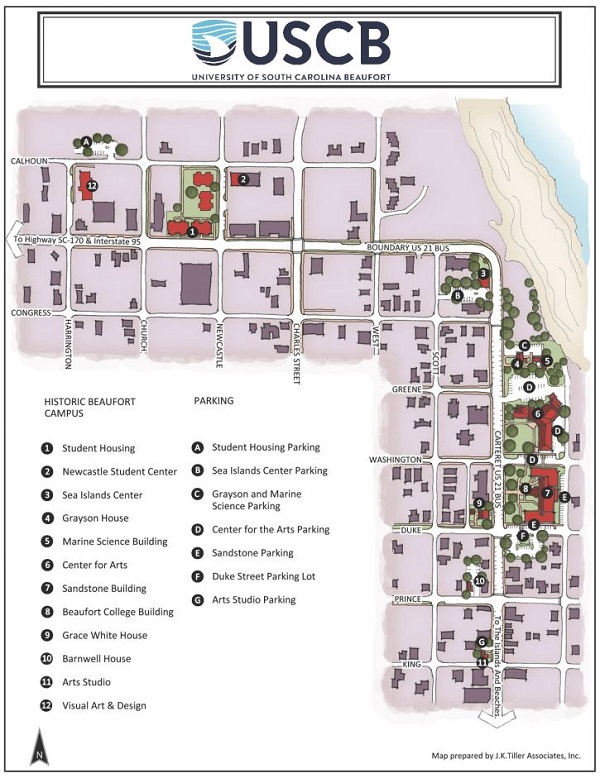 Beaufort Campus Map